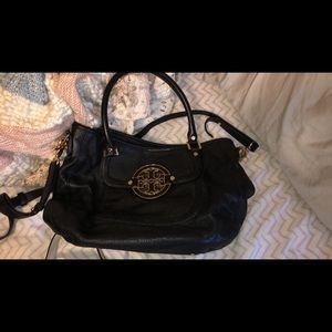Black Tory Burch real leather
